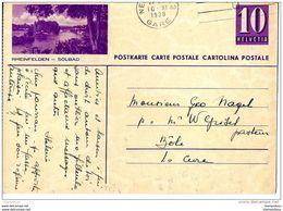 """32-46 - Entier Postal Avec Illustration """"Rheinfelden"""" Oblit Mécanique 1938 - Entiers Postaux"""