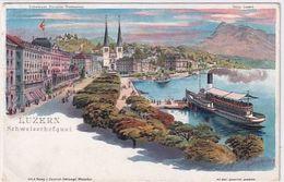 Luzern - Litho - Signiert Steinmann - Int. Ital.Frankatur       (P-265-00501) - LU Lucerne
