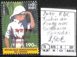 [842515]TB//**/Mnh-RD Congo 2010 - Tintin Au Congo Avec Surcharge SHANGAI, Bandes Dessinées, SNC - Ongebruikt