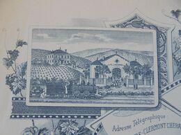 FACTURE - 34 - DEPARTEMENT DE L'HERAULT - CLERMONT 1904 - VINS : J. M. LACOMBE - Frankrijk