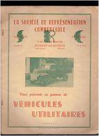 PLAQUETTE PUBLICITAIRE SRC DE NOGENT LE ROTROU  VENTE CAMION FORD DODGE FARGO CHRISLER CITROEN ET AUTOBUS COLONIAL FORD - Camion