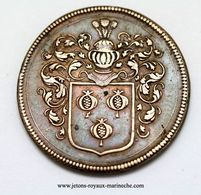 Charles Bonneau. Touraine. Seigneur Du Plessis.F. 8405. R 2. Conseiller Au Parlement De Bourgogne. Cu 27 Mm 6.90 Gr. - Royaux / De Noblesse