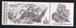 CECOSLOVACCHIA (CZECHOSLOVAKIA) - SG 1845  TATRA NATIONAL PARK : WHITE VALLEY (WITH  LABEL) - MINT** - Czechoslovakia