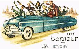 89  UN BONJOUR     DE  ETIGNY    CPM  TBE  405 - Andere Gemeenten