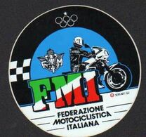Stikers Federazione Motociclistica Italiana Motociclismo Italian Motorcycling Federation Motorbike Motocyclisme FAS00054 - Sammelbilder, Sticker