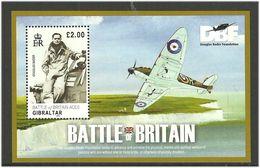 Gibraltar 2010 70th Anniversary Of The Air Battle Of England. War Aircrafts / Planes  Mi Bloc 92 MNH(**) - Gibraltar