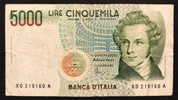 5000 LIRE BELLINI SERIE SOSTITUTIVA XD 1996  NON TRATTATO LOTTO 3283 - [ 2] 1946-… : Repubblica