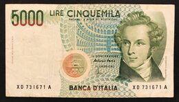 5000 LIRE BELLINI SERIE SOSTITUTIVA XD 1996  NON TRATTATO LOTTO 3284 - [ 2] 1946-… : Repubblica
