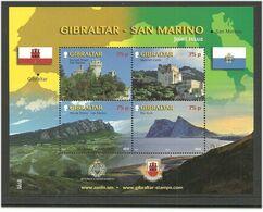 Gibraltar 2010 Attractions From Gibraltar And San Marino  Mi Bloc 93 MNH(**) - Gibraltar