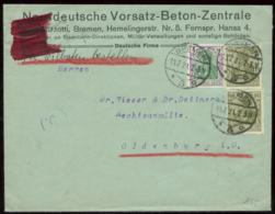 17151 DR Germania Eilboten - Firmen Briefumschlag Bremen - Oldenburg 1921 , Bedarfserhaltung. - Germania