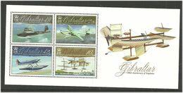 Gibraltar 2010 100th Anniversary Of Aviation. Planes, Aircrafts Mi Bloc 95 MNH(**) - Gibraltar