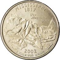 Monnaie, États-Unis, Mississippi, Quarter, 2002, U.S. Mint, Philadelphie, SPL - Federal Issues