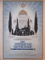 DIE JÜDISCHE GEMEINDE ZU BERLIN ZERSTÖRTE BERLINER SYNAGOGEN 1949 - Storia Postale