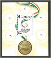 Gibraltar 2010 19. Commonwealth Games, Delhi. Sports Mi Bloc 96 MNH(**) - Gibraltar