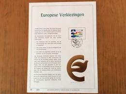 Feuillet De Luxe. YT 2133  Élection Européenne Oblitération 1 Jour  Version Nl - Belgium
