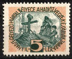 Grave Mother Children - WW1 WWII - War Widow's Aid - Hungary KuK K.u.K - Charity LABEL CINDERELLA VIGNETTE - Used - WW1