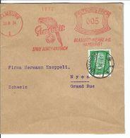 ALLEMAGNE 1934: Bande  De Hamburg Pour Nyon (Suisse) Affr. Mécanique De 5 Pf. Et Complémentaire De 5 Pf.avec Obl. CAD - Covers & Documents