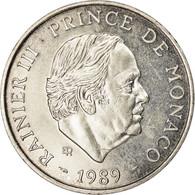 Monnaie, Monaco, Rainier III, 100 Francs, 1989, TTB, Argent, Gadoury:MC164 - Monaco