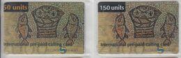 ISRAEL 2000 R.Y.F. COM MOSAICS FISHES 2 DIFFERENT CARDS - Israel