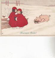 CPA Illustrateur : EBNER Pauli.  (M.M.VIENNE ,n°403.)   Carte écrite En 1909.( Cochon) - Ebner, Pauli