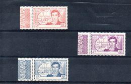 H103 Magnifique Variété De Côte D'Ivoire N° 141a  à 143a ** + Pochette 500 Timbres Des Anciennes Colonies - Stamps