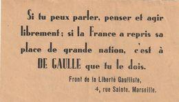 Général DE GAULLE ( Discours Prononcé à BREST Le 21 Juillet 1945 ) - Documenti Storici