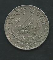 Syrie / Syria - Monnaie 1/2 Piastre 1921   Pieb 24409 - Syrie