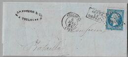 """140 - Yvert 14 Facture Du 6 MAI1861 De TOULOUSE """" APRES LE DEPART  - Arrivée ST PEAT 8 MAI 1861 - 1853-1860 Napoléon III"""