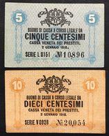 Cassa Veneta Dei Prestiti  10 +5 Cent 1918 Sup/q.fds LOTTO 3292 - Non Classificati