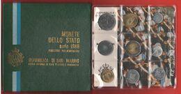 San Marino Serie Con 1 2 5 10 20 50 100 200 500 Lire Divisionale 1986 + Box - San Marino