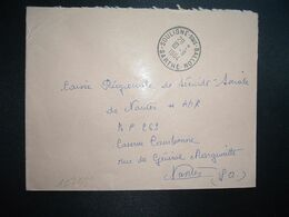 LETTRE OBL.10-9 1964 SOULIGNE SOUS BALLON SARTHE (72) - Marcophilie (Lettres)