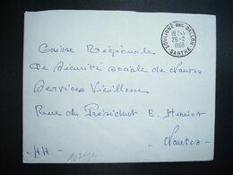 LETTRE OBL.26-2 1968 SOULIGNE SOUS BALLON SARTHE (72) - Marcophilie (Lettres)