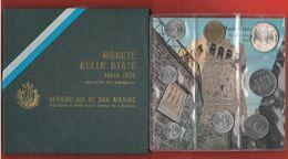 San Marino Serie Con 1 2 5 10 20 50 100  500 Argento Lire Divisionale 1976 + Box - San Marino