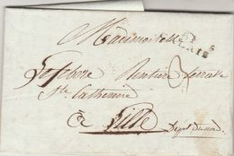 LAC  Marque Postale 61 CALAIS Pas De Calais 27/9/1806 à Lille Nord VOIR DESCRIPTION - Marcophilie (Lettres)