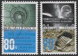 NVPH 1612-1613 - 1994 - Planetarium Eise Eisinga En Eerste Mens Op De Maan - Oblitérés