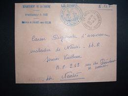 LETTRE MAIRIE OBL.19-9 1969 SOULIGNE SOUS BALLON SARTHE (72) - Marcophilie (Lettres)