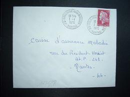 LETTRE TP M. DE CHEFFER 0,40 OBL.1-4 1970 72 SOULIGNE SOUS BALLON SARTHE - Marcophilie (Lettres)