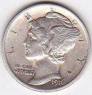 ETATS-UNIS - Monnaie Mercury Dîmes (ONE) Argent 1916 - TTBeau/SUP - Federal Issues