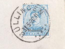 Bezetting : Brief OC69 Opdruk Malmedy Gestempeld Bullingen/Bullange Met Bestemming Duderstadt - WW I