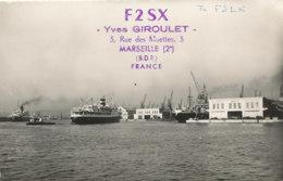 R 579  / CARTE RADIO AMATEURS    F  2 S X    MARSEILLE FRANCE - Radio Amateur