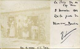 CARTE PHOTO 1901 CAP VERT LA PRAIA CASE THEME AFRIQUE TIMBRES PORTUGAL COLONIES CABO VERDE CAP VERDE AFRICA - Capo Verde