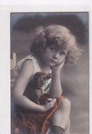 Mädchen Mit Lederspielhund - 1909 - Nicht Häufig - 1909      (A-253-200502) - Games & Toys