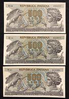 500 Lire Aretusa 1966 + 1967 + 1970 Sup/fds   LOTTO 3299 - 500 Lire