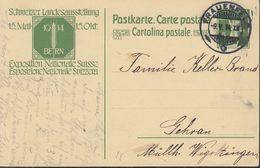SCHWEIZ  MiNr. P  48 I, ZNr. 55 Mit Stempel: Basel 13.I.1914 - Enteros Postales