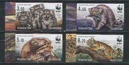 Tajikistan 2017 Wild Cats Wwf Set MNH Imperforated ! - Ohne Zuordnung