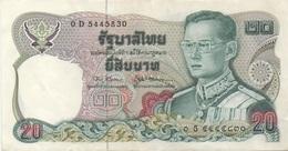 Thaïlande : 20 Baht (très Bon état) - Tailandia