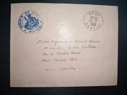 LETTRE MAIRIE OBL. Tiretée 30-7 1966 SPAY SARTHE (72) - Marcophilie (Lettres)