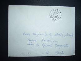 LETTRE OBL. Tiretée 26-12 1966 SPAY SARTHE (72) - Marcophilie (Lettres)