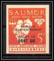 85539/ Grève De Saumur 1953 Essai Non Dentelé Imperf Surcharge - Proofs
