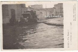 BARI PUGLIA VIA PERRONI ALLUVIONE DEL 1926 - FOTOCARTOLINA ORIGINALE - Places